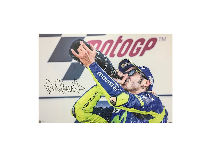 Valentino Rossi 2017 Silverstone Podium Photo - White