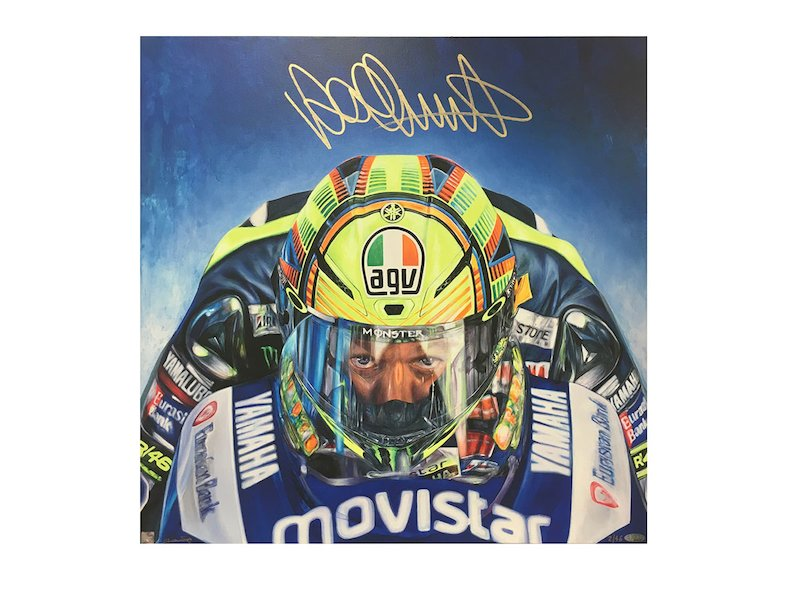 Valentino Rossi  Paul Daniels Art Work - White