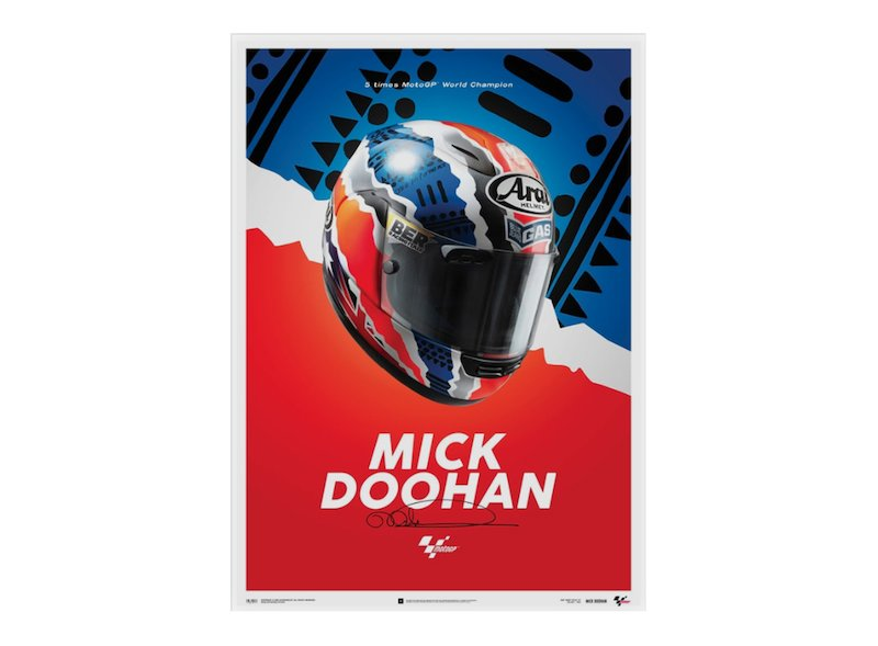 Mick Doohan Helmet 1999 Poster