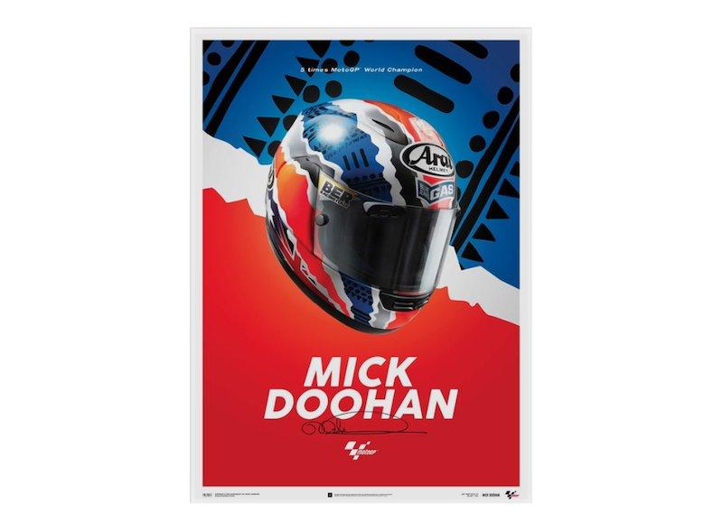 Póster Mick Doohan Casco 1999