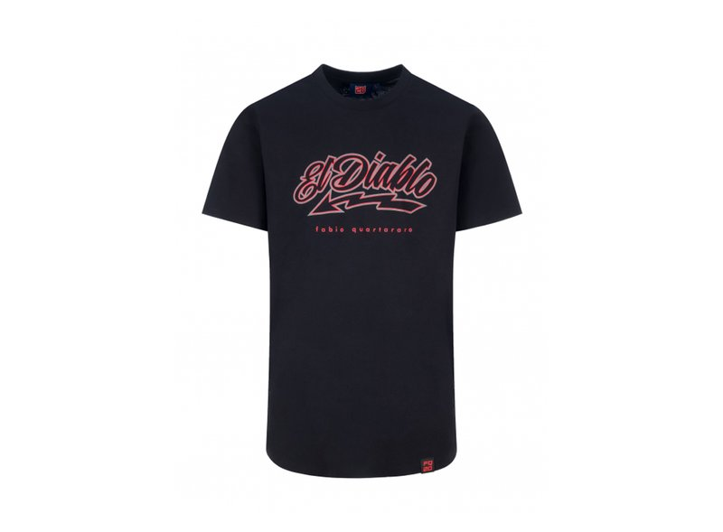 T-shirt Fabio Quartararo Stripe - Black