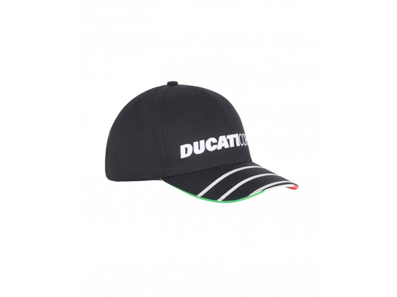 Gorra Ducati Corse Bandera - Black