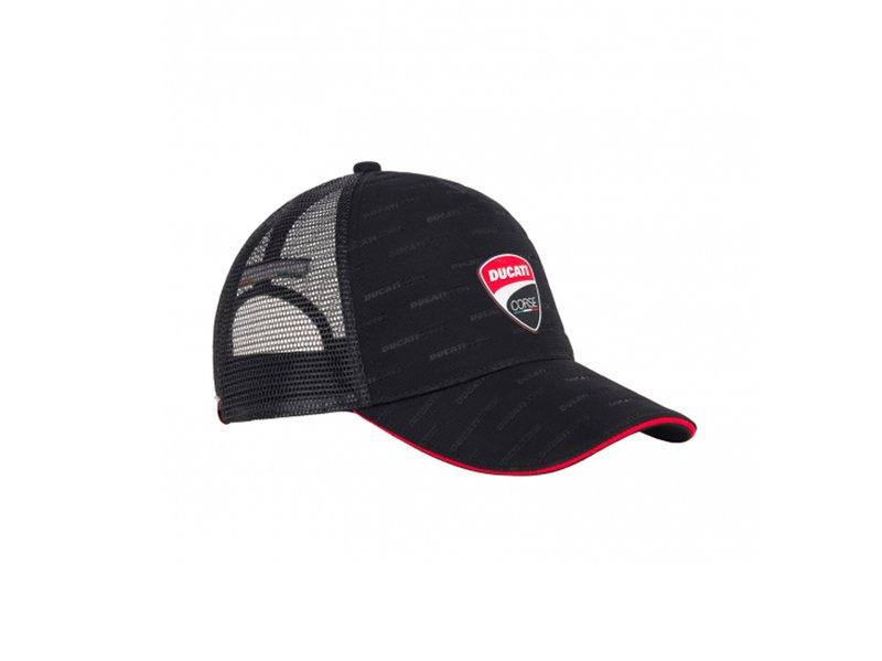 Cappellino Ducati Corse Trucker - Black