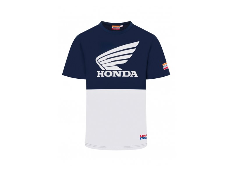 Repsol Honda Blue&White T-shirt - Grey