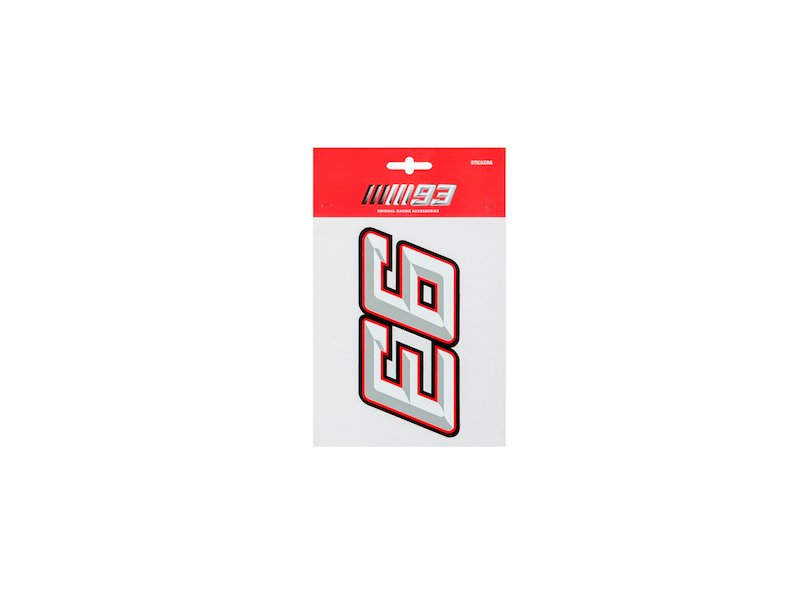 Marc Marquez 93 Stickers - White