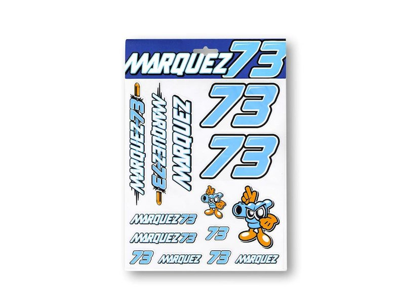 Alex Marquez 73 Stickers - White