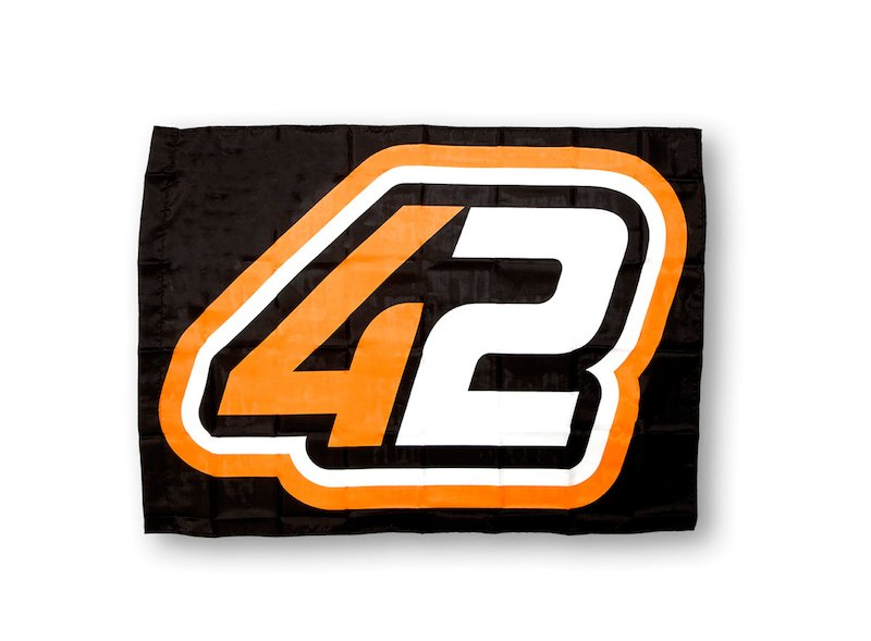 Alex Rins 42 Flag - White