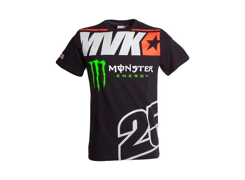 Camiseta Monster Maverick Viñales 25 - White