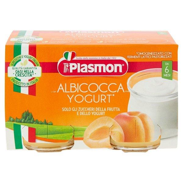 Plasmon Albicocca Yogurt* Omogeneizzato con Fermenti Lattici Pastorizzati 2 x 120 g