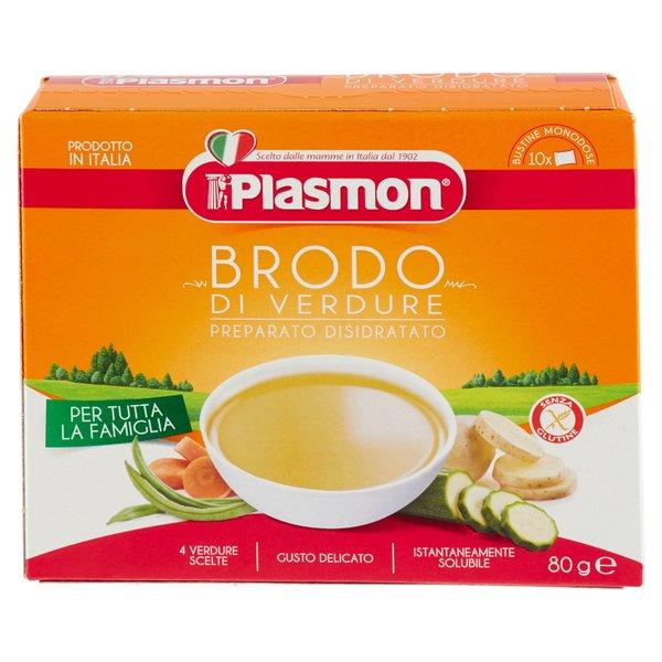 Plasmon Brodo di Verdure Preparato Disidratato 10 x 8 g