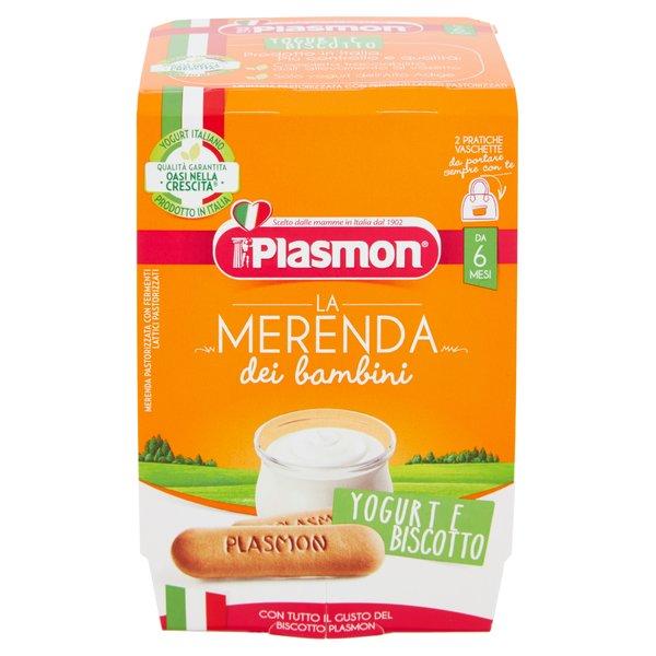 Plasmon la Merenda dei bambini Yogurt e Biscotto 2 x 120 g