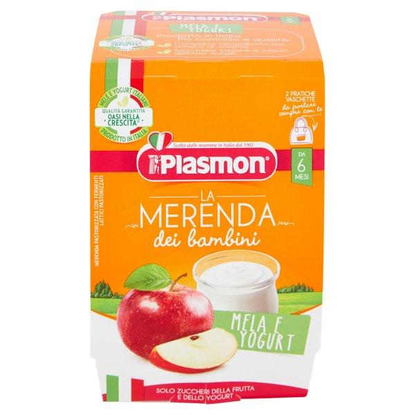 Plasmon la Merenda dei bambini Mela e Yogurt 2 x 120 g