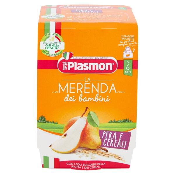 Plasmon la Merenda dei bambini Pera e Cereali 2 x 120 g