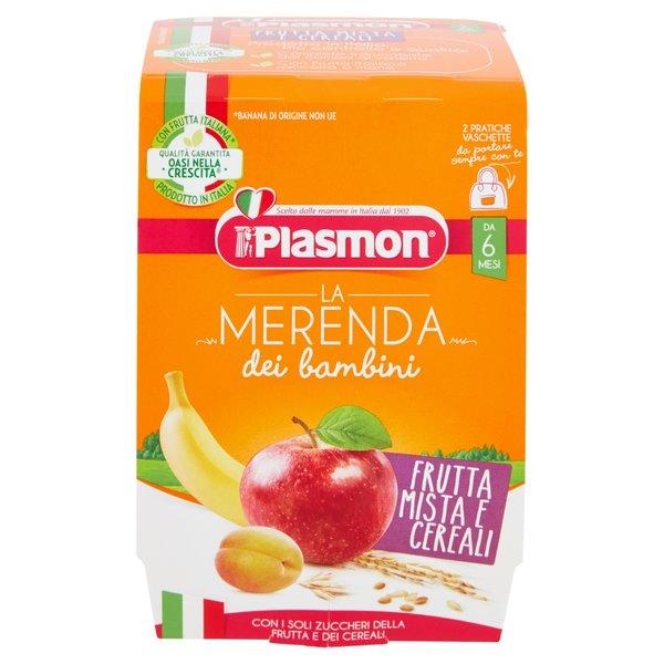 Plasmon la Merenda dei bambini Frutta Mista e Cereali 2 x 120 g