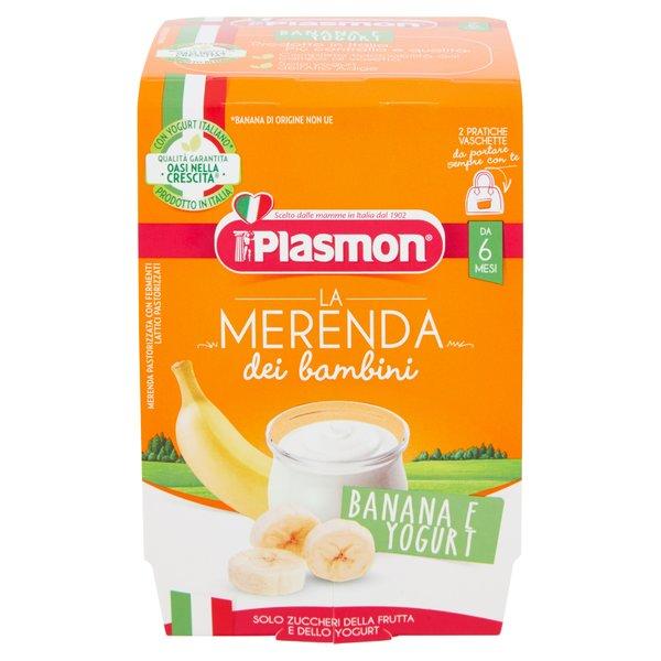 Plasmon la Merenda dei bambini Banana e Yogurt 2 x 120 g