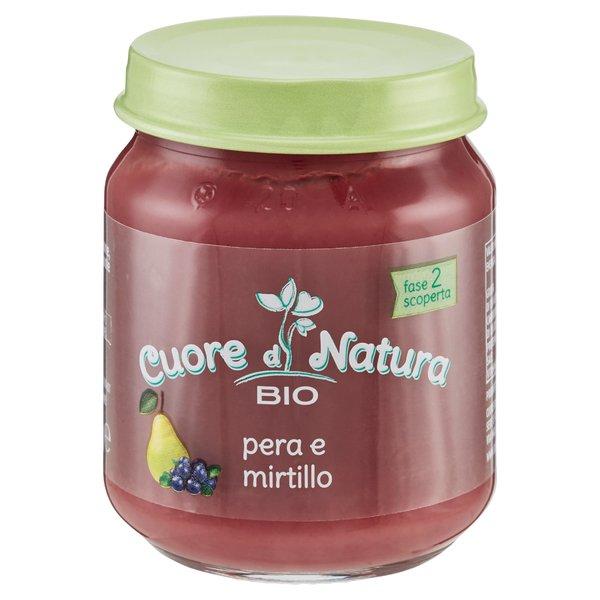 Cuore di Natura Bio pera e mirtillo 110 g