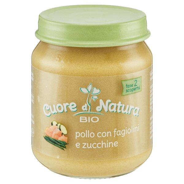 Cuore di Natura Bio pollo con fagiolini e zucchine 110 g
