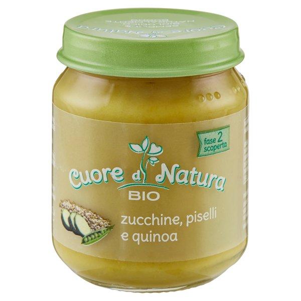 Cuore di Natura Bio zucchine, piselli e quinoa 110 g