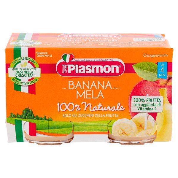 Plasmon Omogeneizzato Banana Mela 2 x 104 g