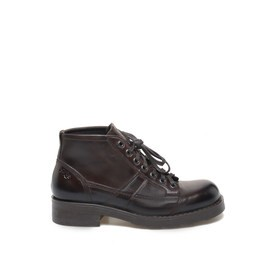 Frank<br />Low ankle boot in dark brown leather