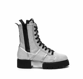 Amtrac military boot in silver mesh