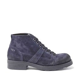 Frank blue suede military boots