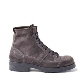 John grey suede military boots