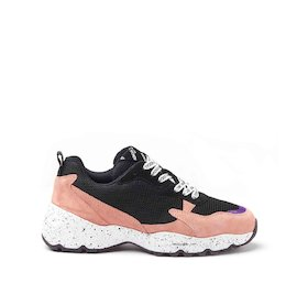 Airborne pink mixed material sneakers