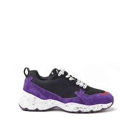 Airborne violet mixed material sneakers