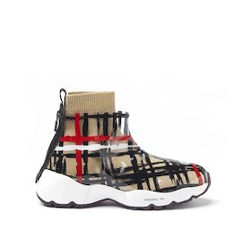 Airborne tartan wool and TPU sneakers