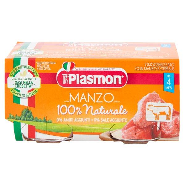 Plasmon Omogeneizzato con Manzo e Cereale 2 x 80 g