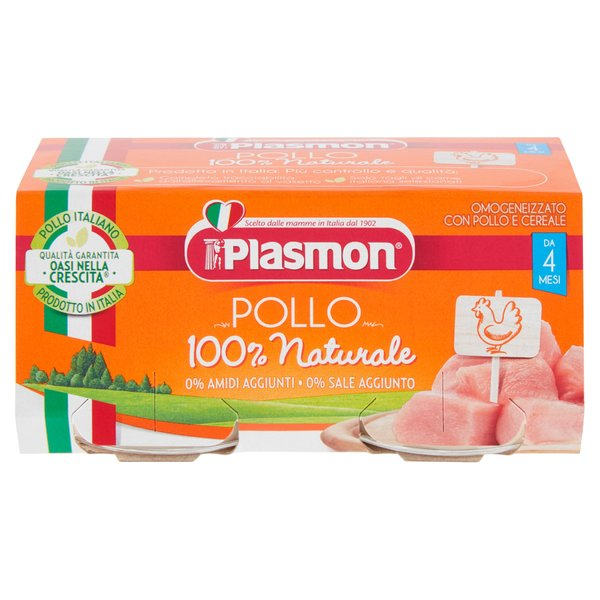 Plasmon Omogeneizzato con Pollo e Cereale 2 x 80 g