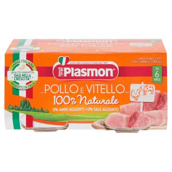 Plasmon Omogeneizzato con Pollo, Vitello e Cereale 2 x 80 g
