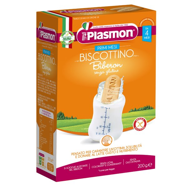 Plasmon Primi Mesi Biscottino Biberon senza glutine 200 g