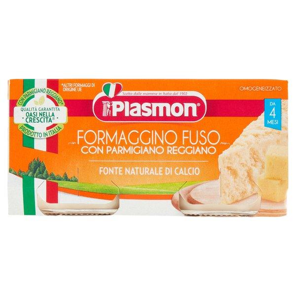 Plasmon Formaggino Fuso e Parmigiano Reggiano Omogeneizzato 2 x 80 g