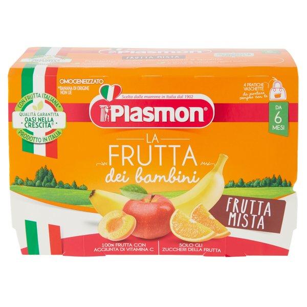 Plasmon la Frutta dei bambini Frutta Mista Omogeneizzato 4 x 100 g
