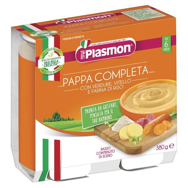 Plasmon Pappa completa verdure con vitello e farina di riso 2 x 190 g