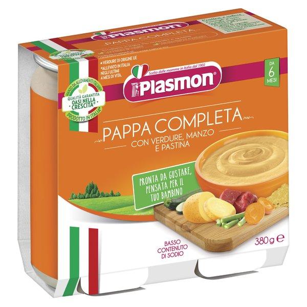 Plasmon Pappa Completa Verdure con Manzo e Pastina 2 x 190 g