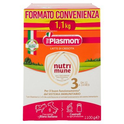 Plasmon Latte di Crescita nutri mune 3 1100 g