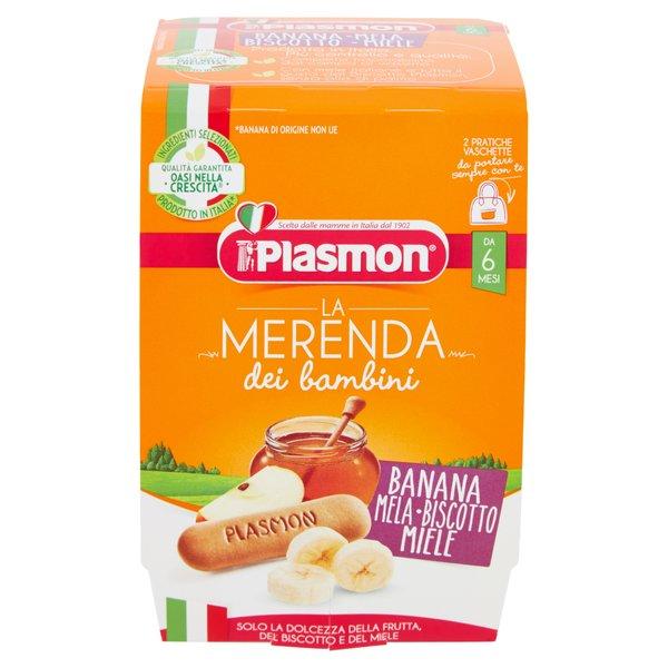 Plasmon la Merenda dei bambini Banana Mela-Biscotto Miele 2 x 120 g