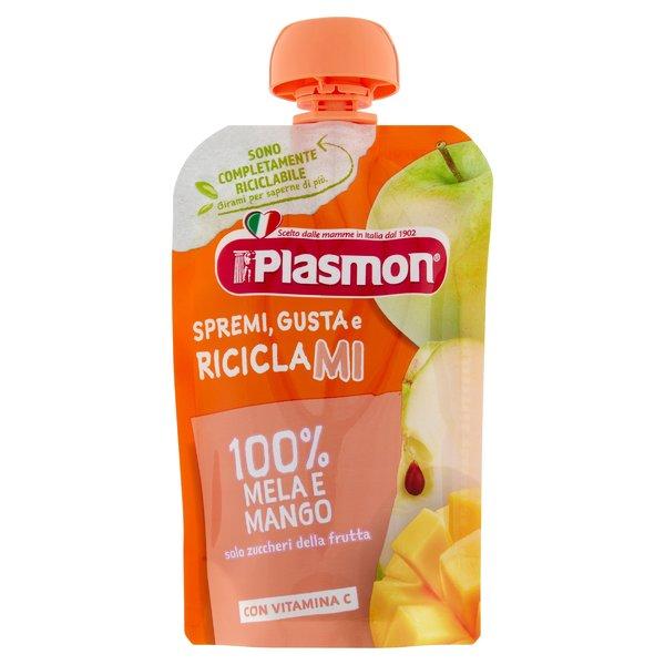 Plasmon Spremi Gusta e Riciclami 100% Mela e Mango 100 g