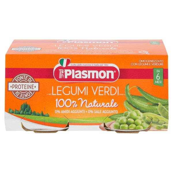 Plasmon Omogeneizzato con Legumi e Verdure 2 x 80 g
