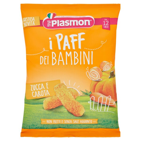 Plasmon i Paff dei Bambini Zucca e Carota 15 g
