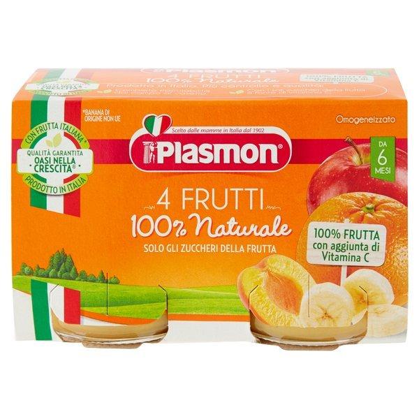 Plasmon Omogeneizzato 4 Frutti 2 x 104 g