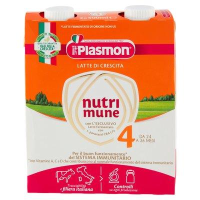 Plasmon Latte di Crescita nutri mune 4 2 x 500 ml