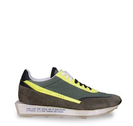 SNK-100M trainers in suede and technical fabric