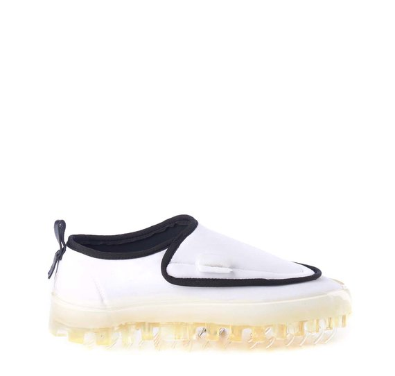 Women's BOLD slip-ons in breathable white technical fabric