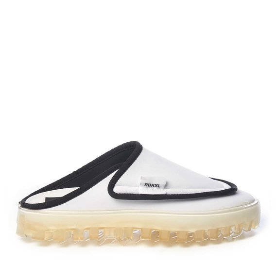 Men's BOLD slippers in breathable white technical fabric