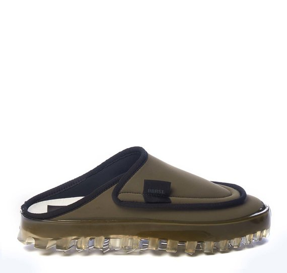 Men's BOLD slippers in breathable khaki technical fabric