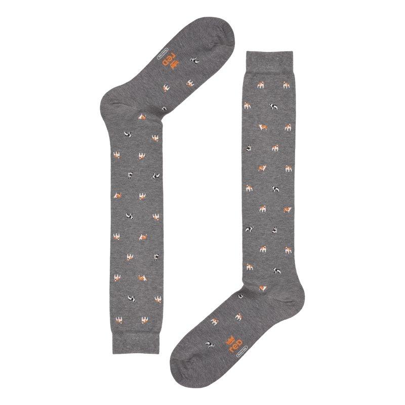 Long socks Bulldog print